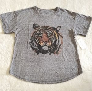 Chelsea & Theodore Tiger's Head🐯 Graphic  Tee